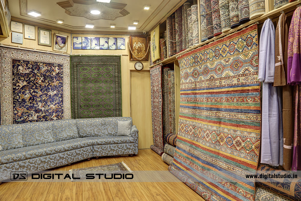 HDR Photograph of Carpets Showroom in Mumbai