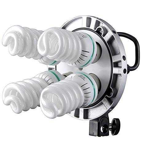 Four CFL bulbs lighting system