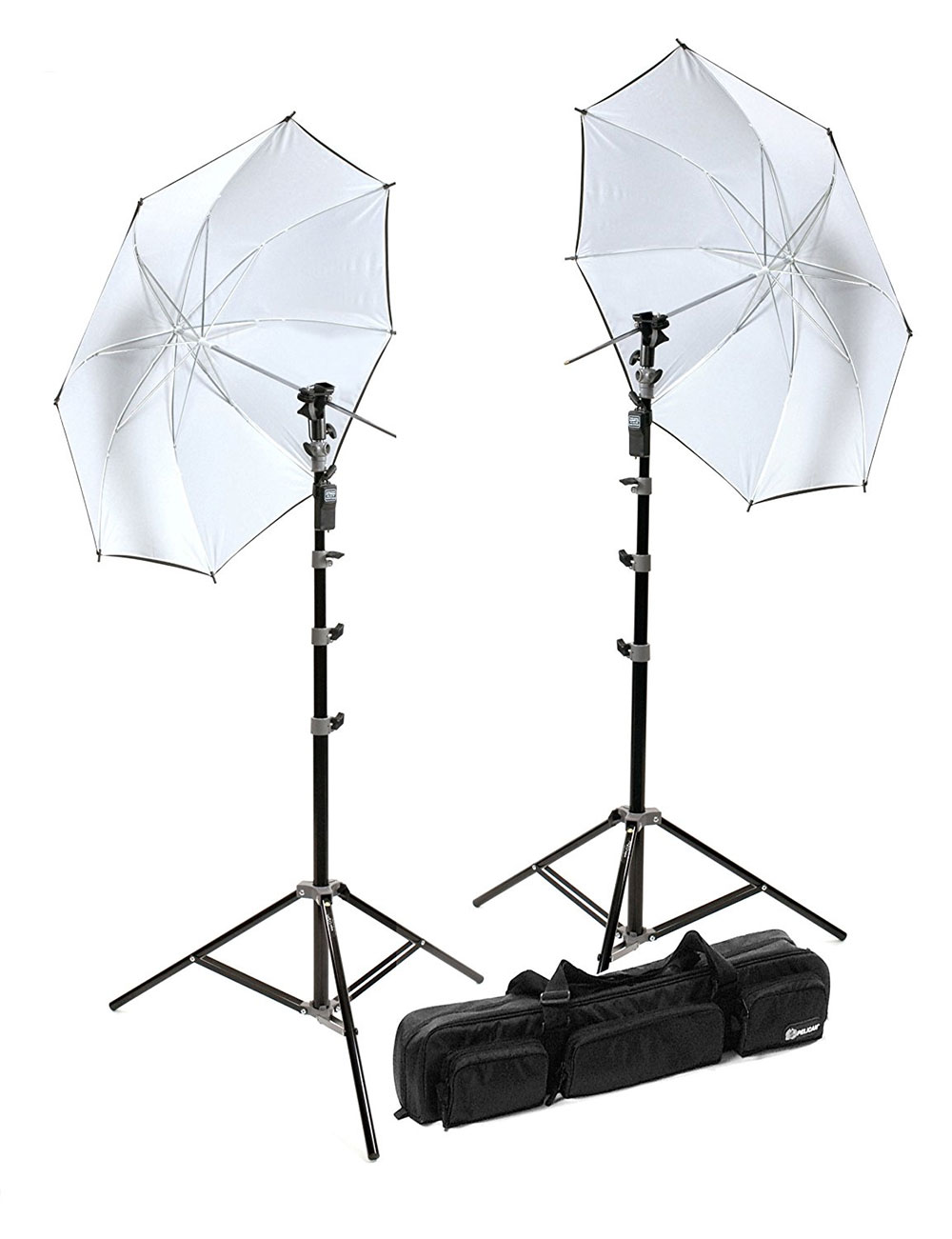 Lighting umbrellas with stands
