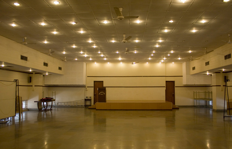 Photograph of large meeting hall