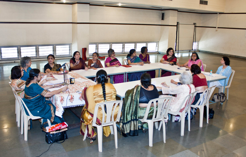 Women executives in meeting