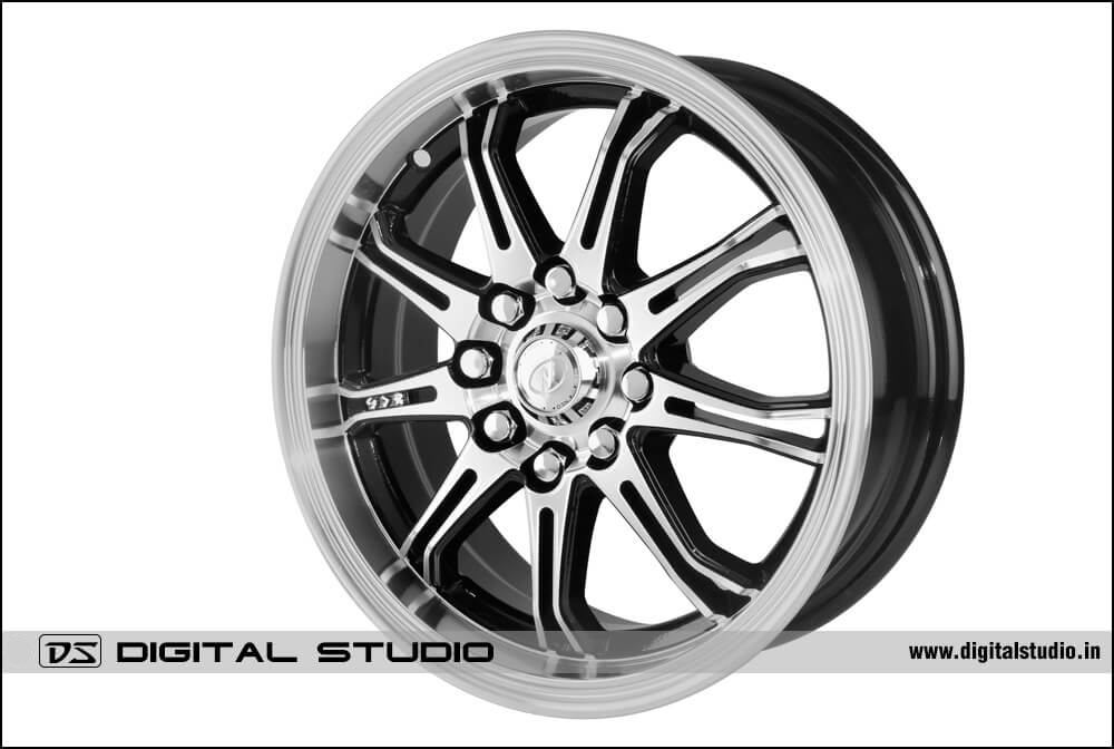 Alloy wheel grey Photograph