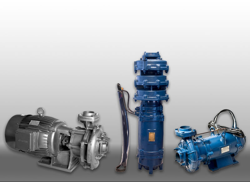Cluster of water pumps
