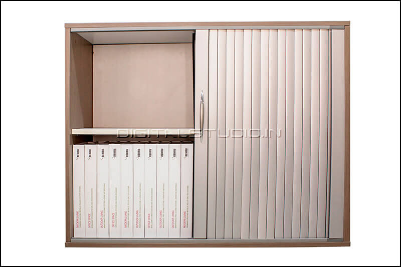 Cabinet with half closed shutters