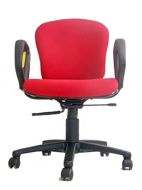 Red Executive chair with arms