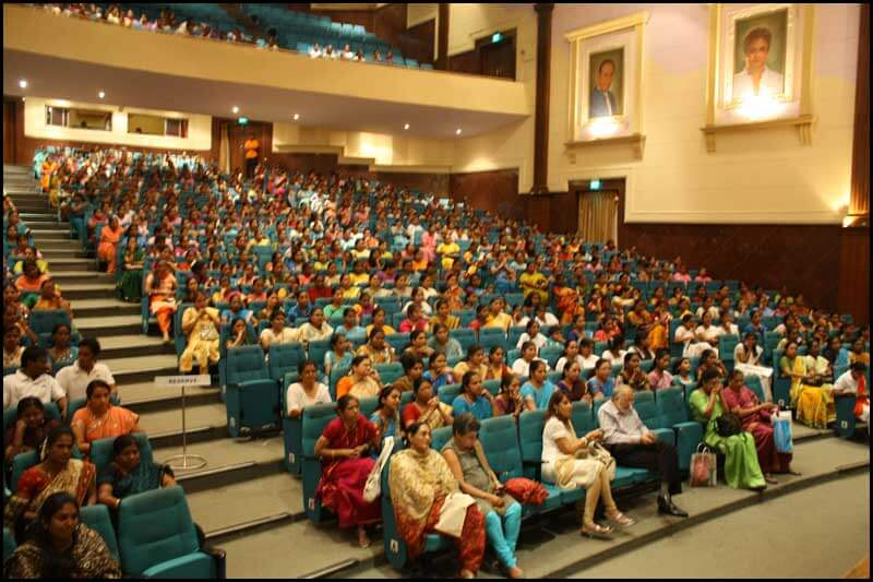 Audience during a corporate event