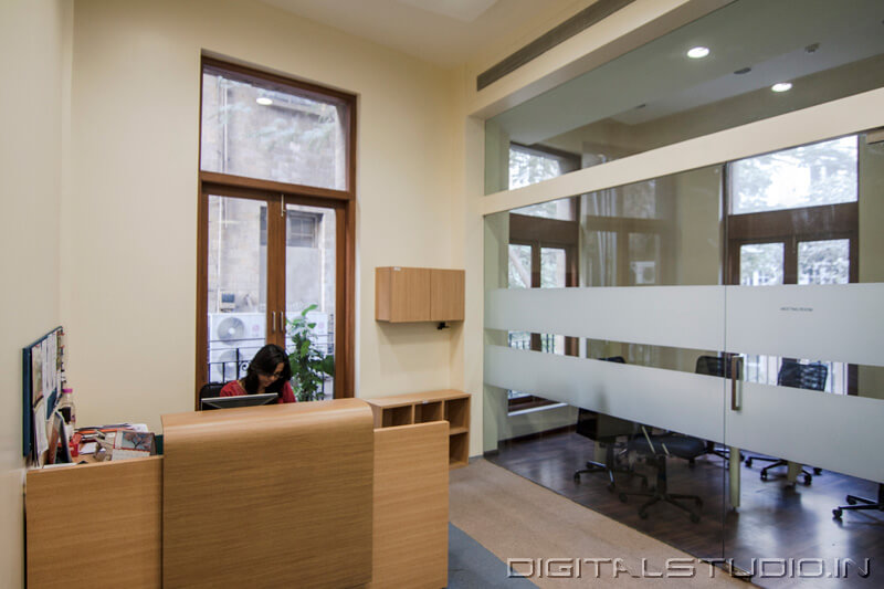 Business house reception area photograph
