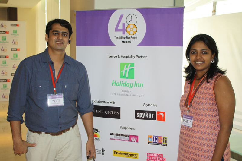 Yogi Chopra and Preeti at 48HFP in Mumbai