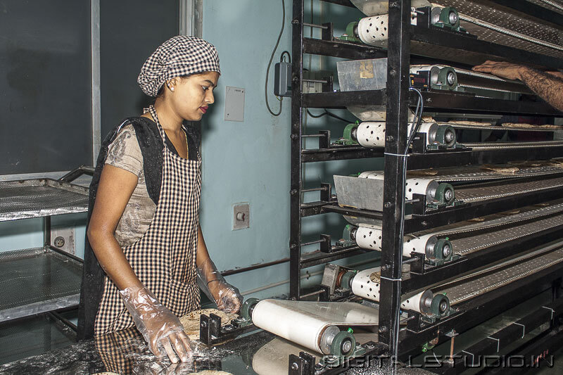 Photography of  chapati Factory