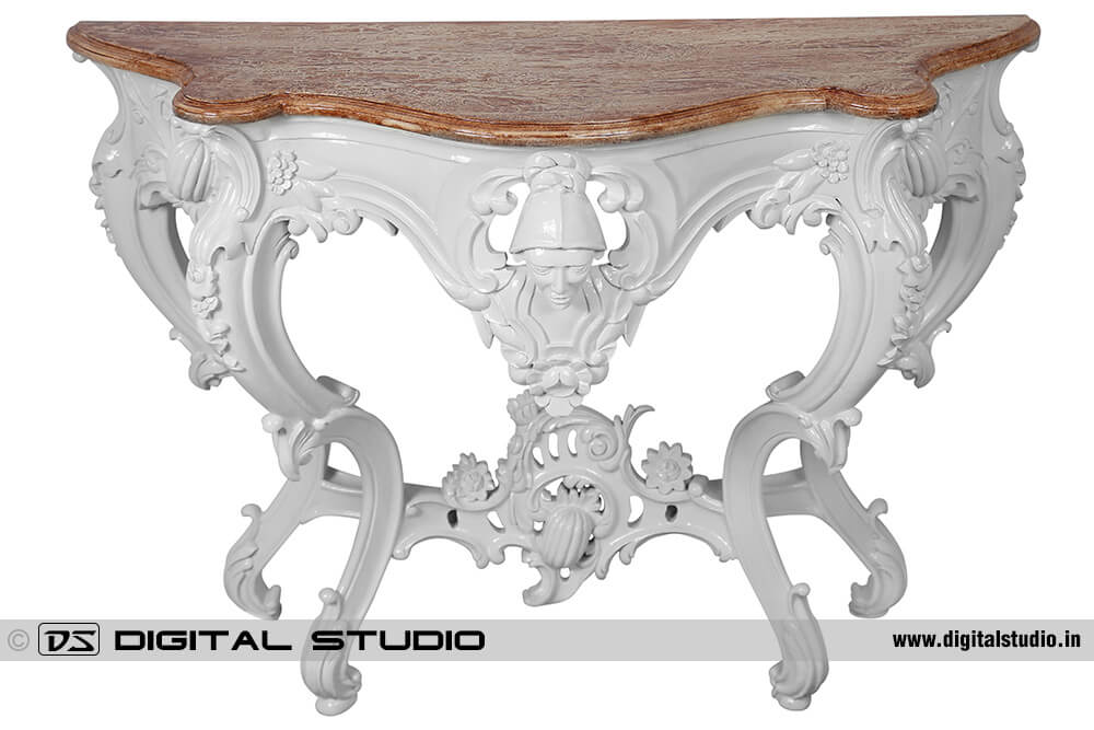 Granite top console table