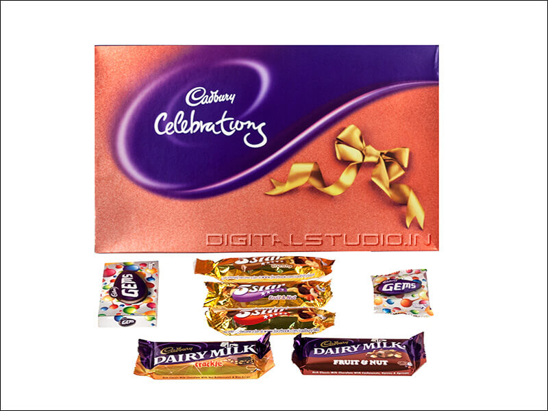 Cadbury's gift box with many items