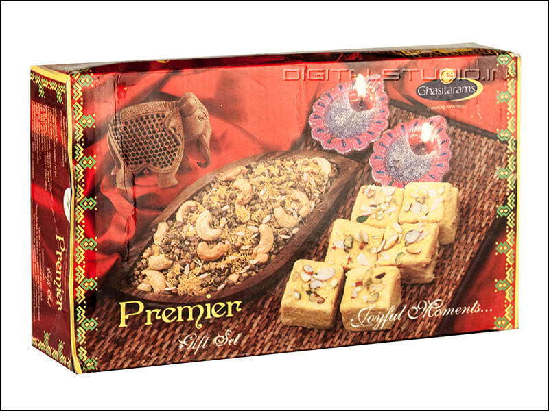 Decorated gift box of Indian mithai