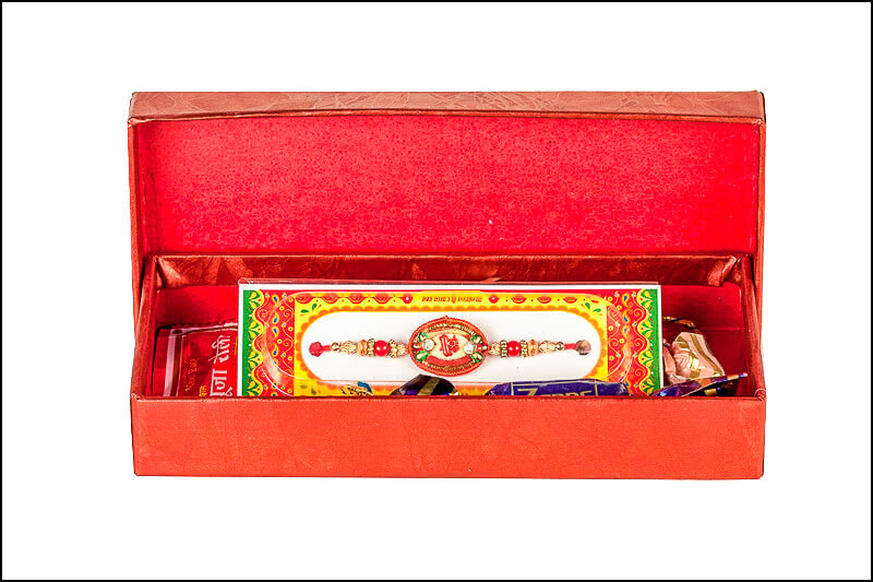 Rakhi gift box with other items