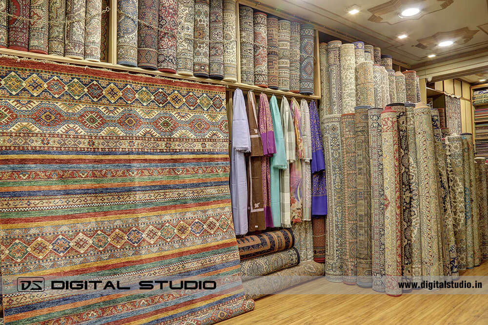 Showroom of Kashmir Oriental Carpets & Rugs in Mumbai