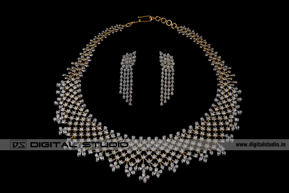 Real diamond jewellery photography advanced jewellery editing diamond necklace mozeypictures Gallery