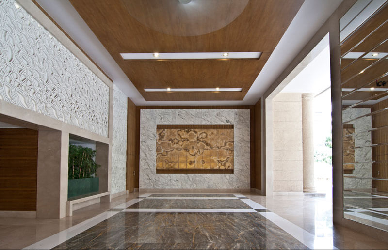 Corporate office lobby