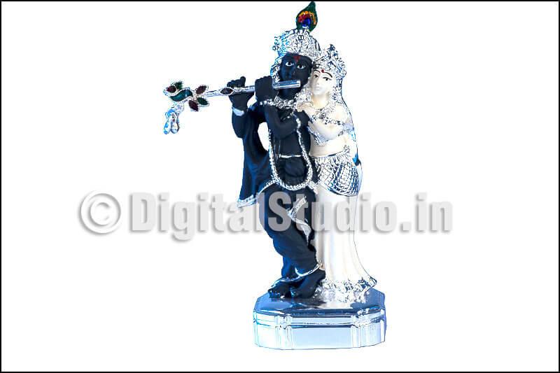 Black and silver krishan and radha, standing pose
