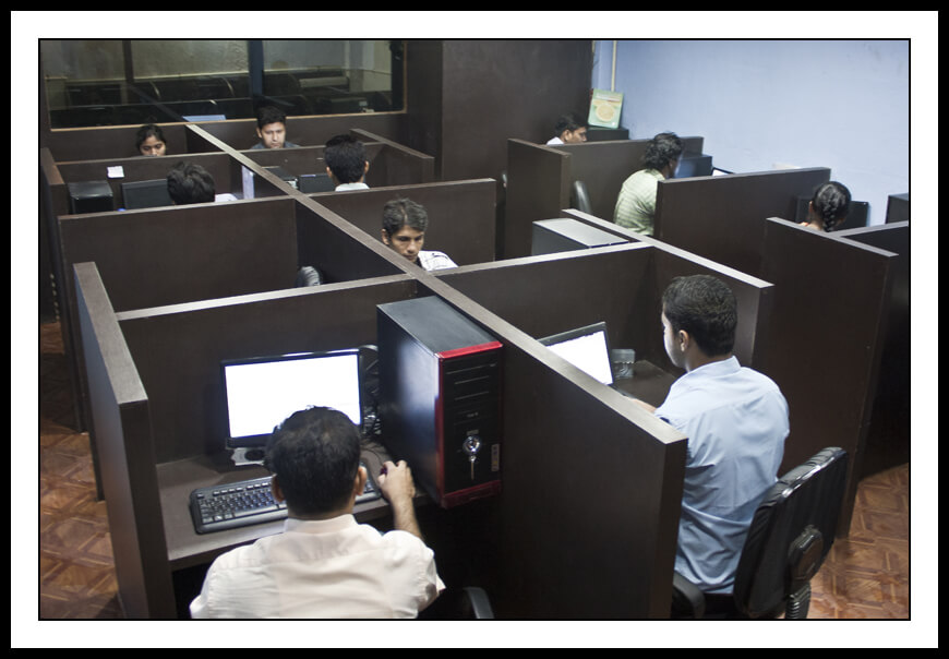 Executives working in an office