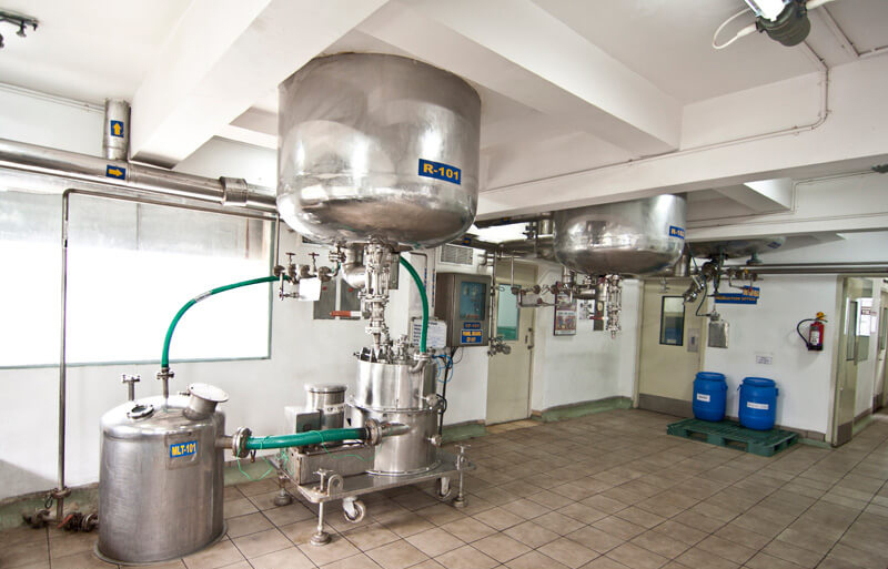Reactors in a pharma plant