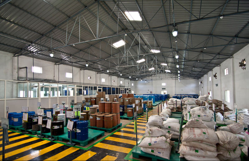 warehouse of a pharma plant