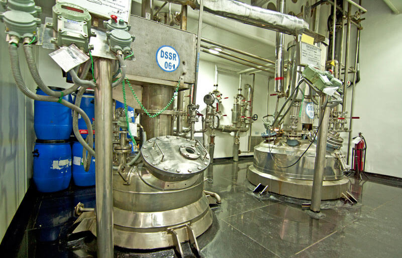 industrial photograph of a pharma plant