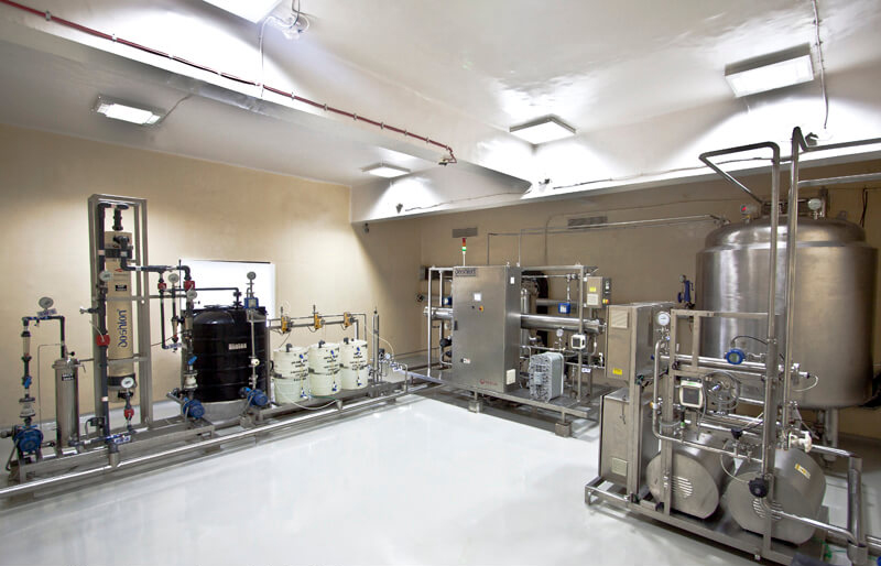 inside view of a pharma plant in Vapi