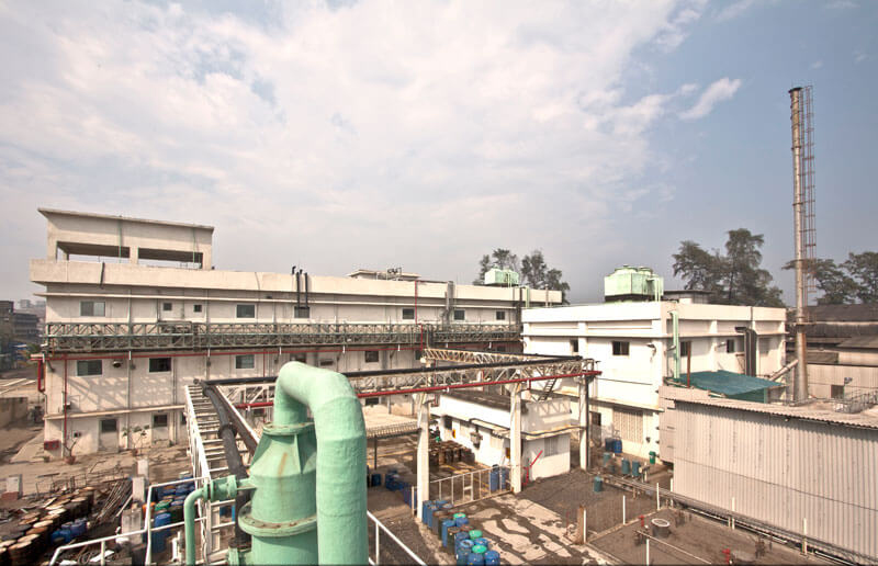 Exterior Top view of a pharma plant in Vapi