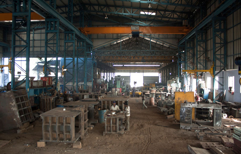 Photography of factory shop floor