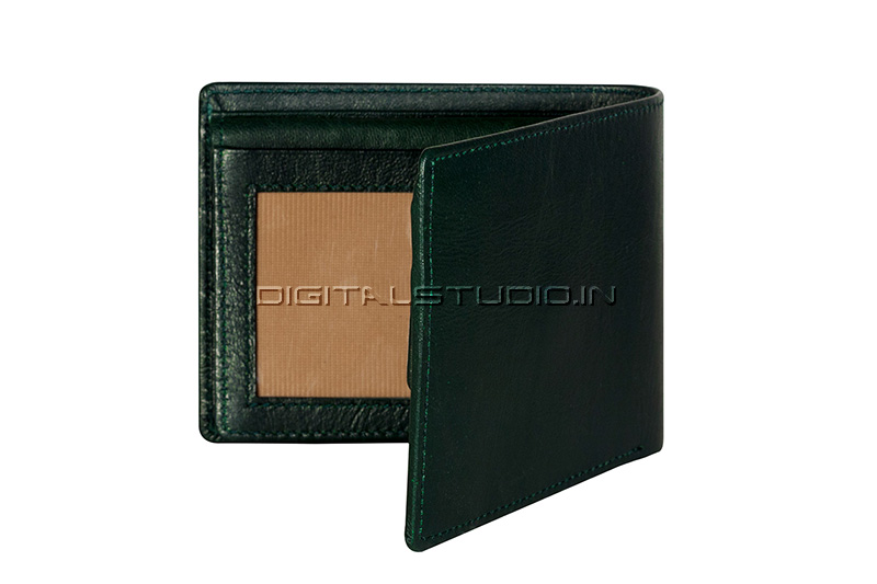 Pure leather green wallet