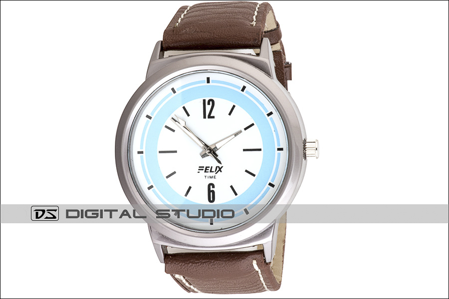 mens watch with brown strap