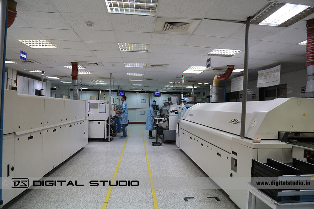 Lab technicians working on machines and instruments