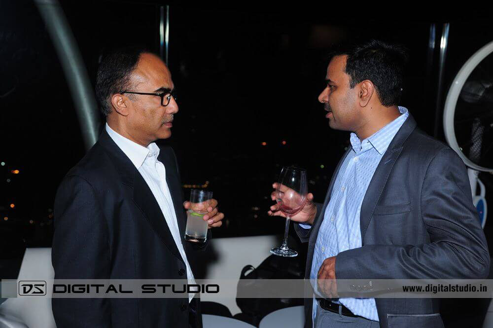 Two executives talking at Cocktail Party Photograph
