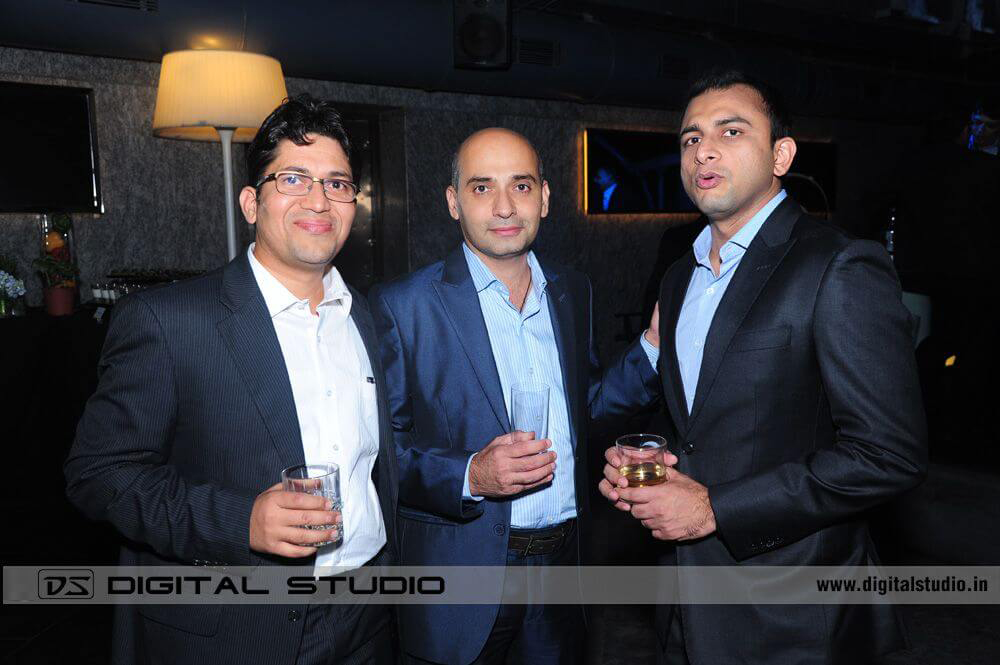 Three executives at Cocktail Party and dinner Photograph