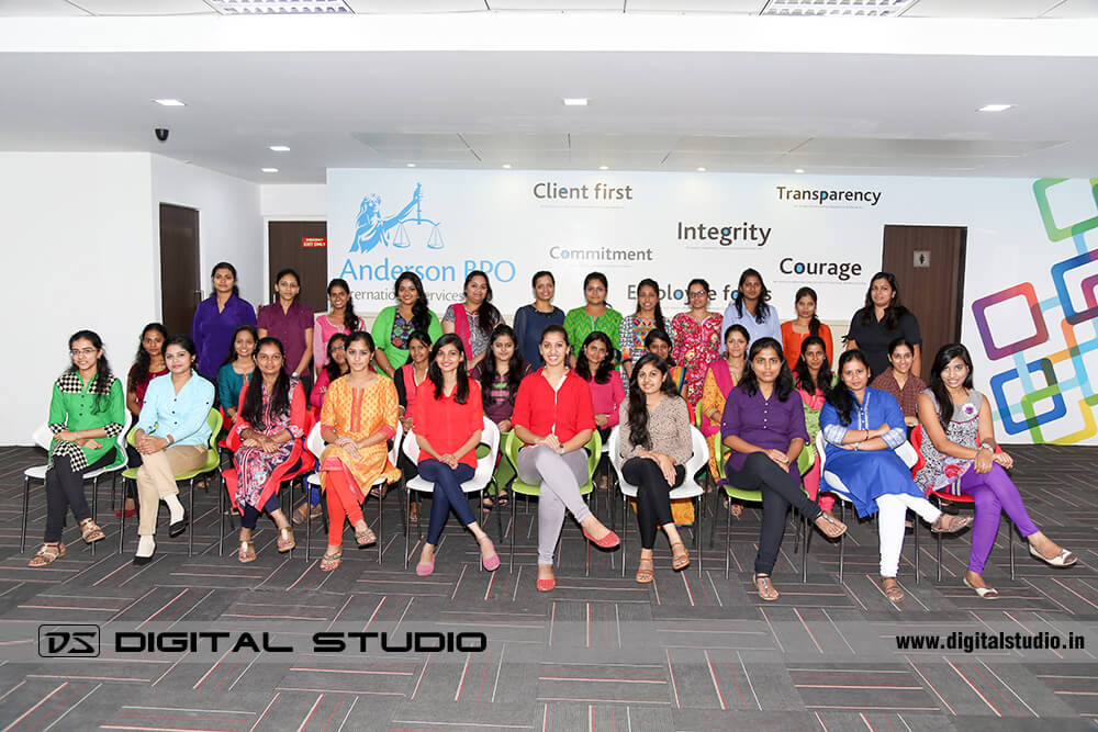 Ladies corporate group photograph