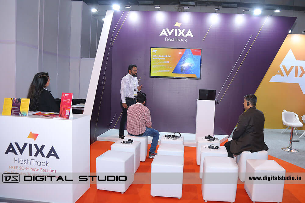 Presentation at exhibition booth