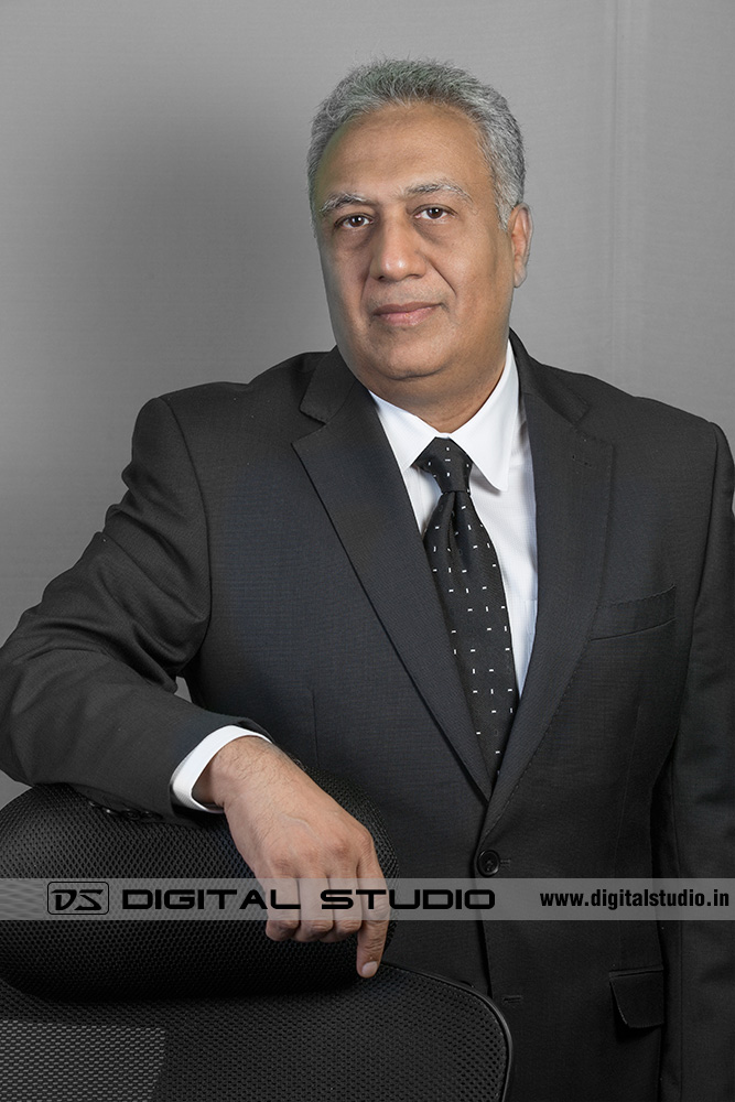 Male executive wearing business suit