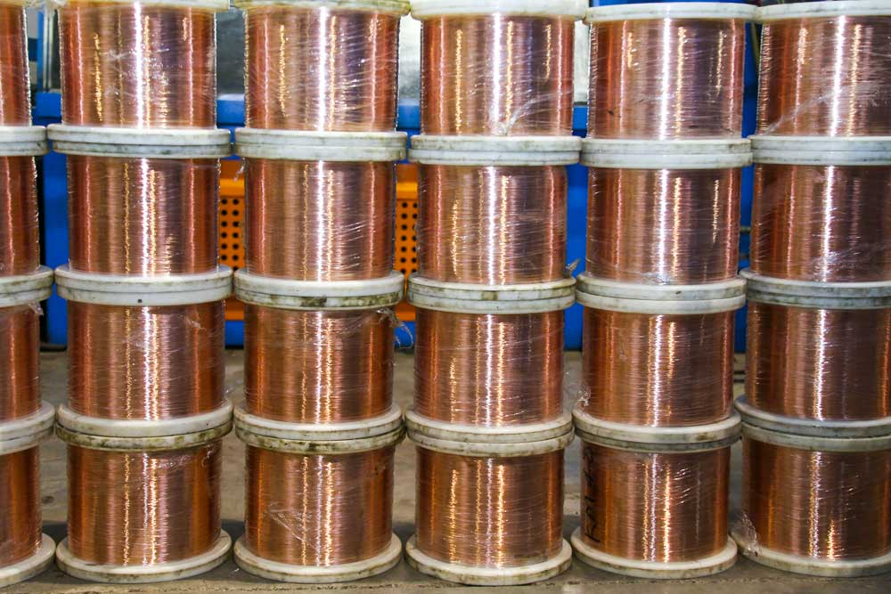 Copper wire bundles
