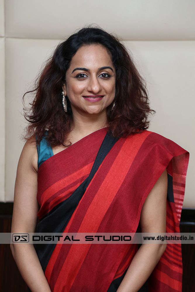 Lady executive in sari