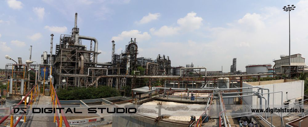 Panorama of Himadri Speciality Chemical Plant at Hooghly
