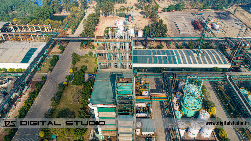 Drone photograph Chemical factory