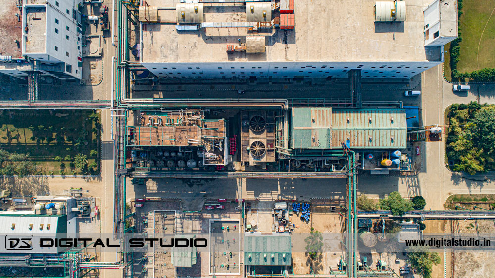 chemical processing plant - drone shoot