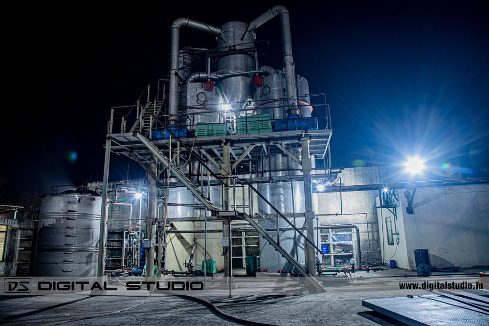 Night photography of Chemical Plant