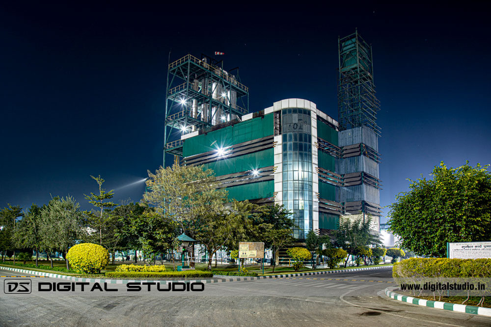 Night photography of Chemical Process Plant