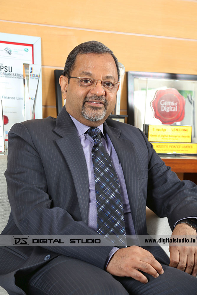 Managing Director sitting in formal business suit