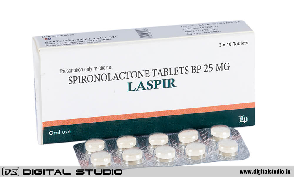 Pack box with tablets strip