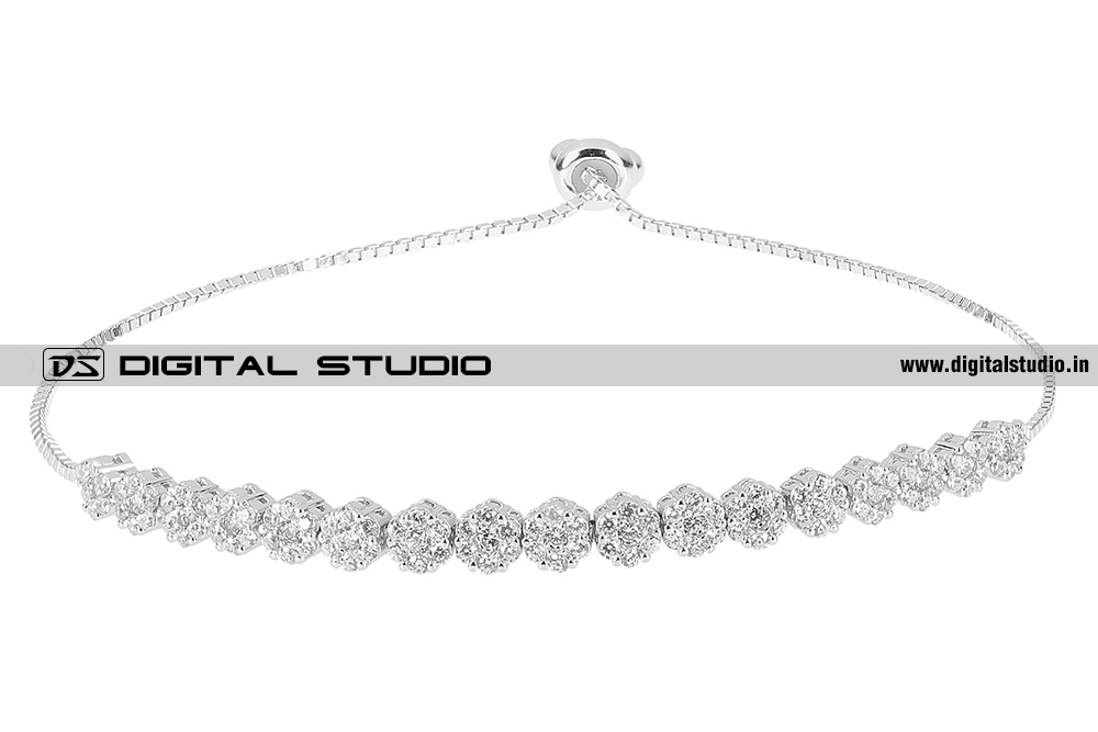 Pure silver bracelet with american diamonds