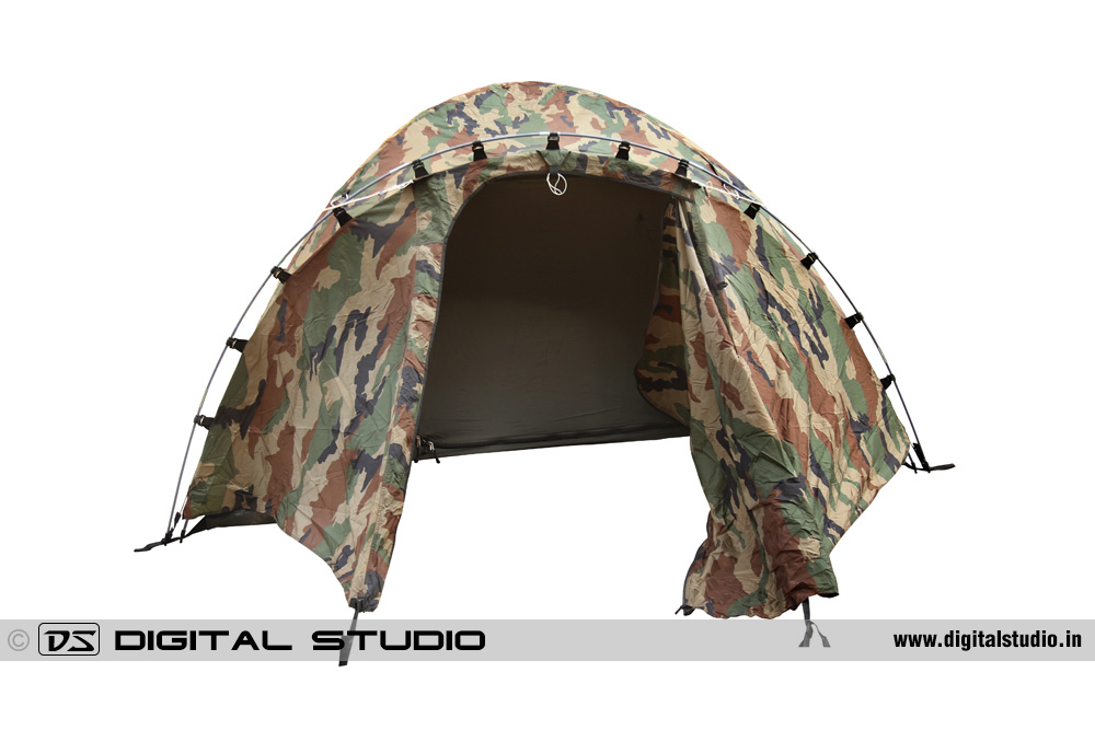 Military camouflage tent