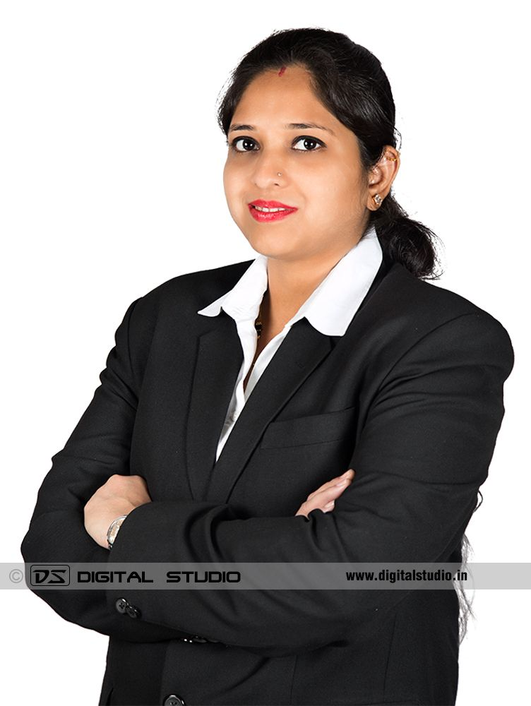 Female executive with arms crossed