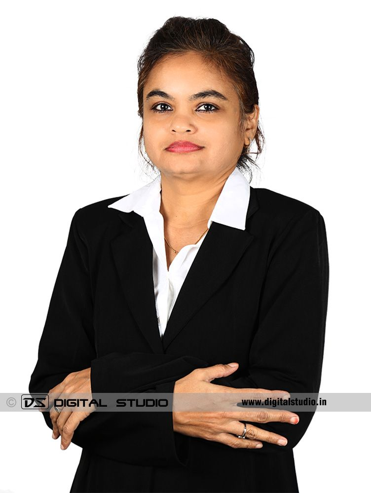 Lady purchase officer with black blazer