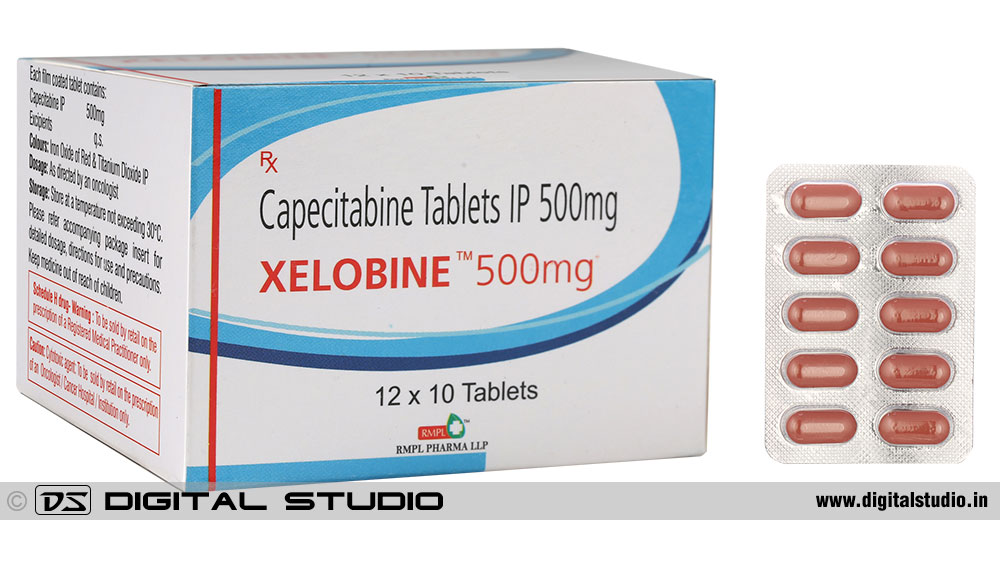 tablets strip with box packing